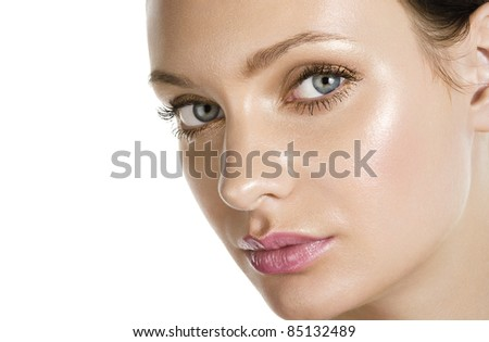 Woman beautiful face - stock photo