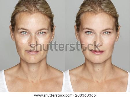 After Digital Makeup And
