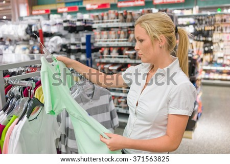 woman buying clothing