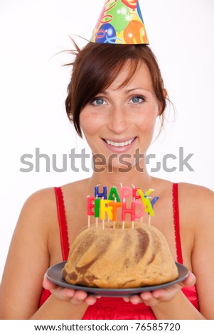 woman celebrating birthday