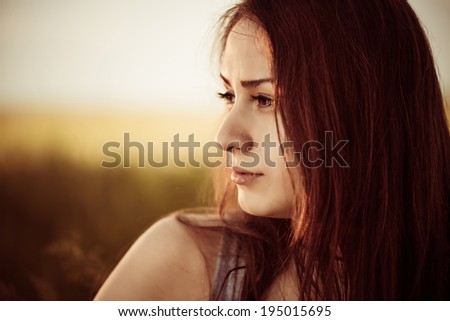 woman closeup portrait outdoor