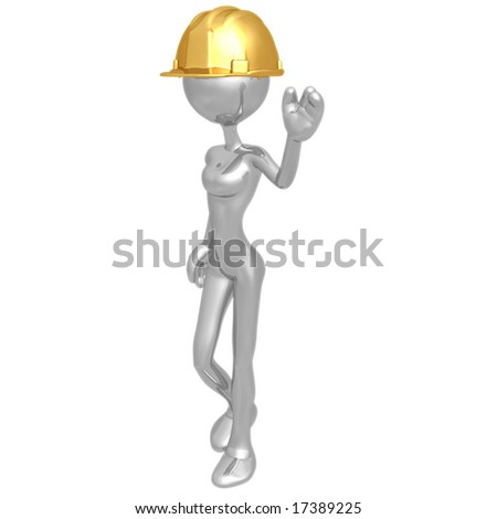 Woman Construction Worker - stock photo