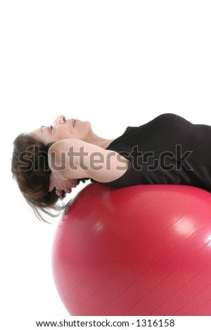 woman core training - stock photo
