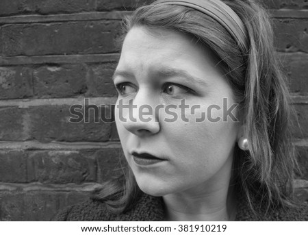 Woman crying  - stock photo