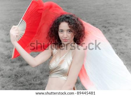 Woman dance - stock photo