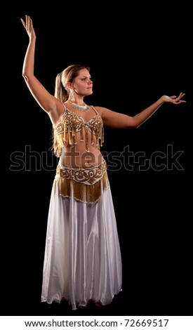 woman dance in traditional arabian costume