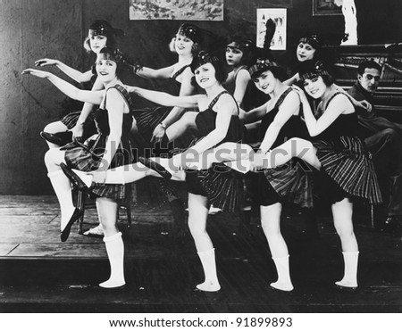 Woman dancing - stock photo