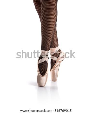 Woman dancing ballet - stock photo