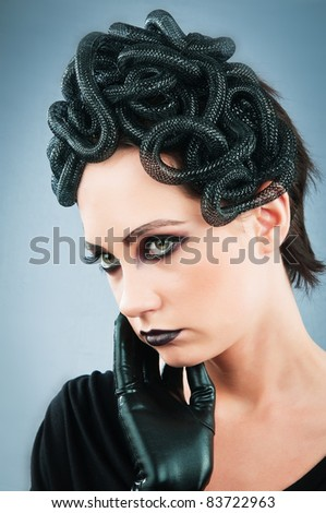 Woman depicting the concept og Evil (Medusa Gorgon)