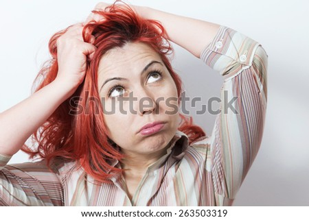 Woman desperation  - stock photo