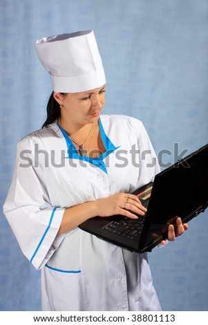 Woman doctor with a notebook