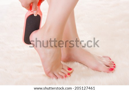 how to clean dead skin ankle