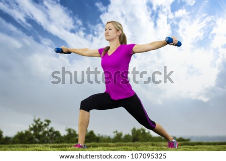 Woman Doing Early Morning Fitness Training