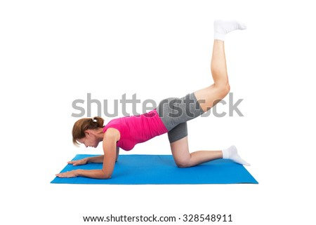 Woman doing gymnastics