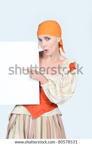 Woman dressed in rags - stock photo