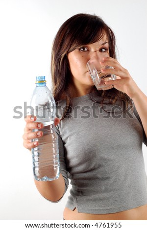 woman drinking water #11