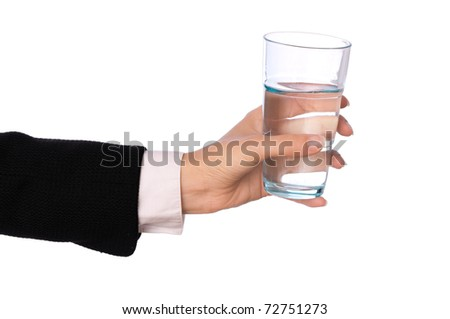 woman drinking water at the business break
