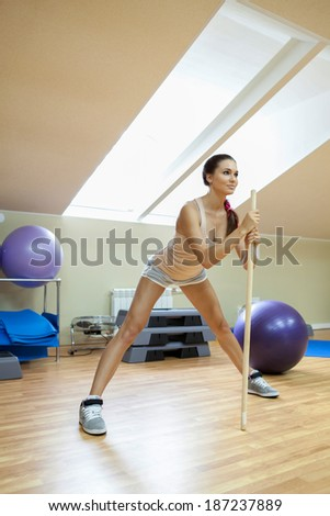 woman engaged in fitness