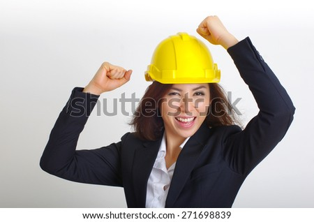 woman engineer happy - stock photo