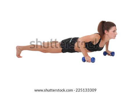 woman exercising fitness workout push ups