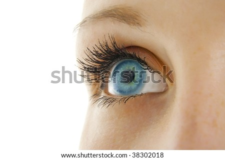 Woman eye. A close up view. - stock photo