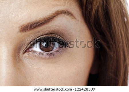 Woman eye in a close-up image