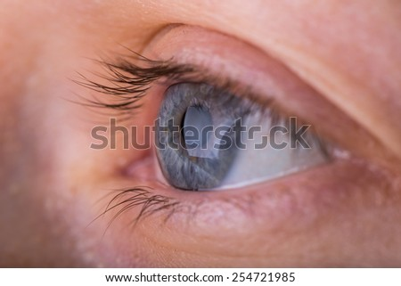 woman eye in close up - stock photo