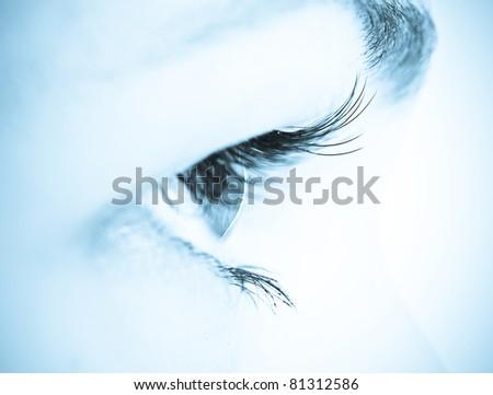 woman eye/ macro shot - stock photo