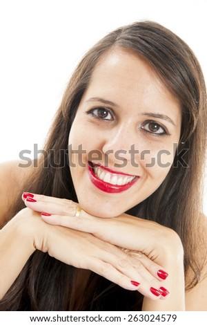 Woman face - stock photo