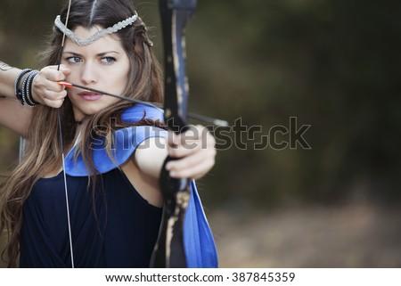 woman fantasy fairy tale - stock photo