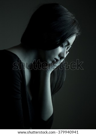 Woman feeling pain from toothache - stock photo
