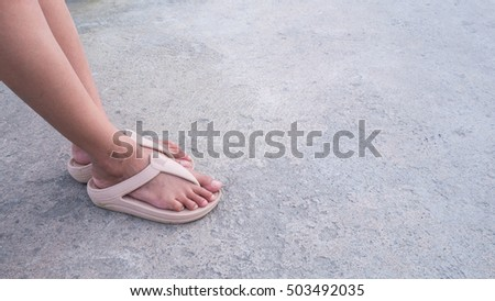 woman feet with sandal