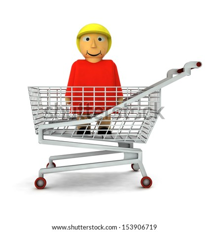 woman figure as shopping customer isolated illustration - stock photo