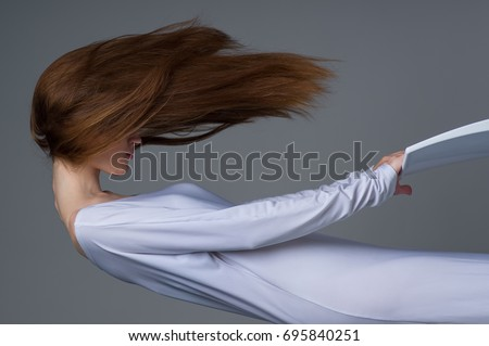 Woman Floating In Air