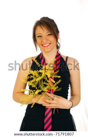 Woman for the day of the eight March - stock photo