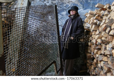 woman from a province - stock photo