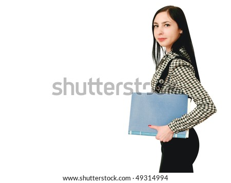 woman from the office - stock photo