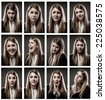 woman gestures and emotions - stock