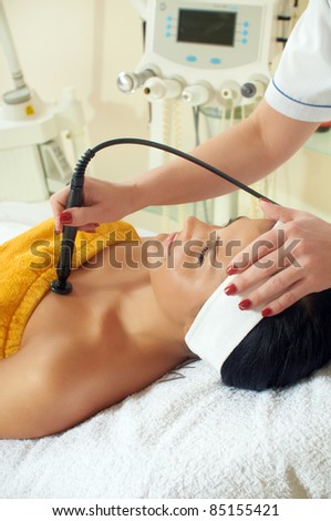 Woman getting mezotherapy in spa salon