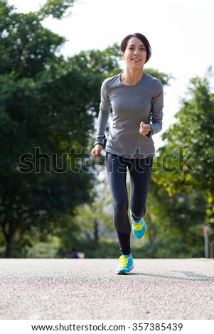 Woman go for jogging