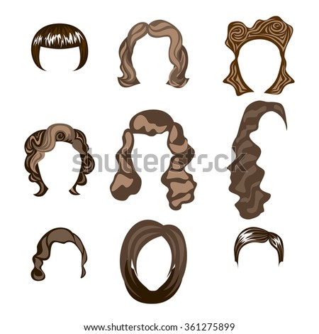 woman, hair, hairstyle silhouette brunette hairstyle - stock photo
