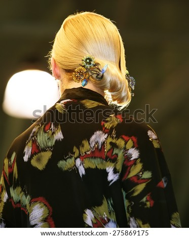 Woman hairstyle - stock photo