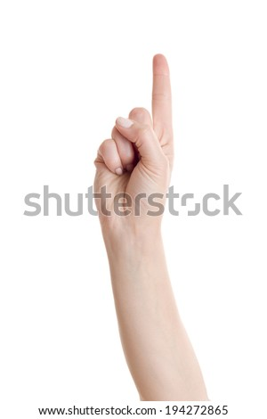 Woman hand gesture set counting numbers