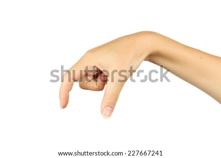 Woman hand hold virtual business card