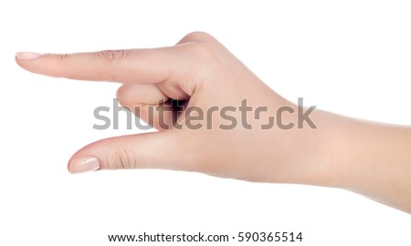 Woman Hand Hold Virtual Business Card Stock Photo 590365514