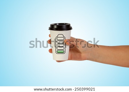 woman hand holding take  cup empty - stock photo