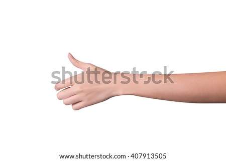 Woman hand holds virtual card or smart phone or something on whi