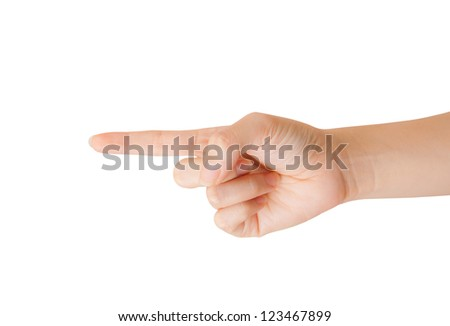 Woman hand isolated on a white background. - stock photo