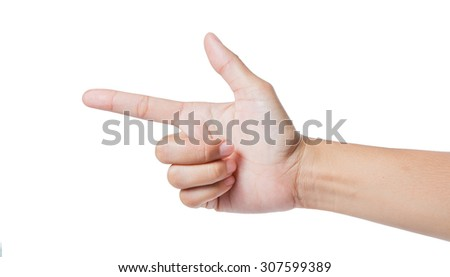 Woman hand isolated on white background,clipping path