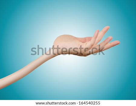 Woman Hand isolated on White Background Funny Style